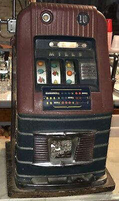 1930's Vintage Mills 10 Cent Dime Slot Machine Working