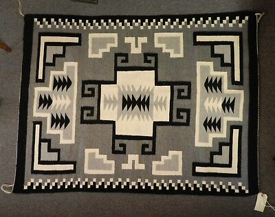 Vintage Navajo Susie George Handwoven Wool Rug,ex Condition Arizona Estate Fresh