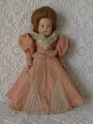 Vintage 1939 Effanbee 1896 Historical Doll, 14 Inches, Tagged, All Original, EC