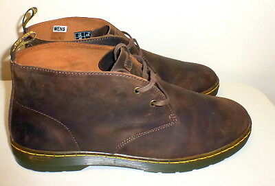 New Mens Dr Martens Brown Cabrillo Brown Gaucho Leather Chukka Desert Boots 14M
