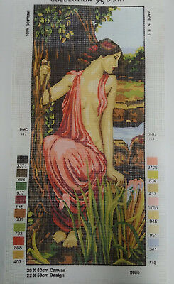 Tapestry Canvas Printed 30 x 60cm Lady