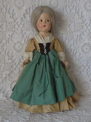 Vintage 1939 Effanbee 1682 Historical Doll, 14 Inches, Tagged, All Original, EC