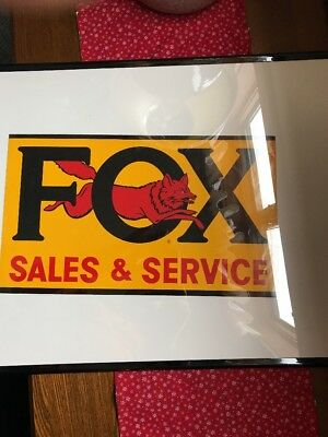 RARE Antique Paper Fox Sales Service DEALERS Advertising Sign Farm NO RESV