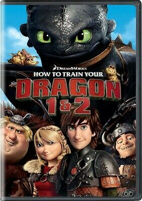 How To Train Your Dragon 1 & 2 (REGION 1 DVD New)
