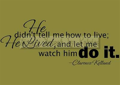 HE LIVED, DO IT Vinyl Wall Saying Lettering Quote Decoration Decal Sign Craft