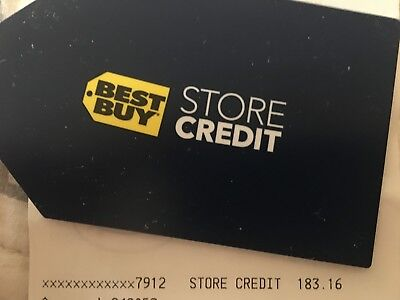 Best Buy Gift Card - $183.16 - Store Credit