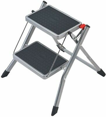 Hailo 4310-151 Mini small and compact folding steps , 2 large steps with non-sli