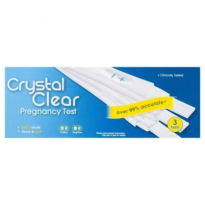 Crystal Clear Pregnancy Test Visual Compact 3 Tests Pack