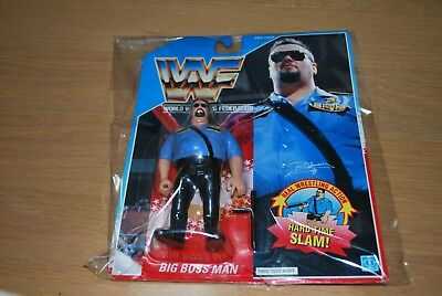 Hasbro WWF Wrestling WWF Hasbro Big boss man Figure unopend 11