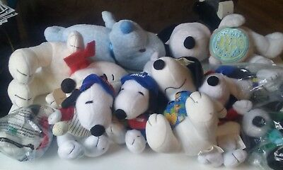 lot of 11 snoopy peanuts plush