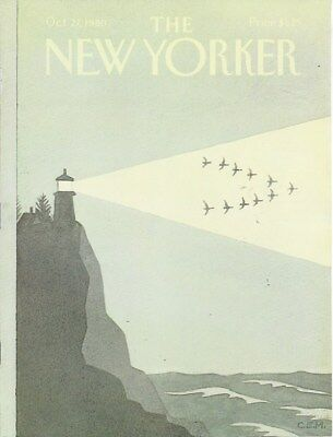 COVER ONLY  The New Yorker magazine ~October 27 1980 ~ MARTIN ~ Lighthouse Geese