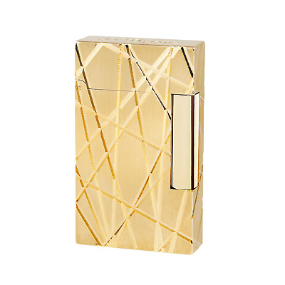 S.T. Dupont Ligne 2, LIGHTER FIRE LINES YELLOW GOLD, 016265 New in Box