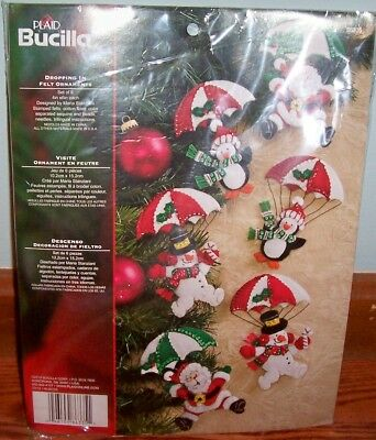 Bucilla Dropping In Felt Ornaments Kit #86335 Set of 6 Ornaments New/Unopened