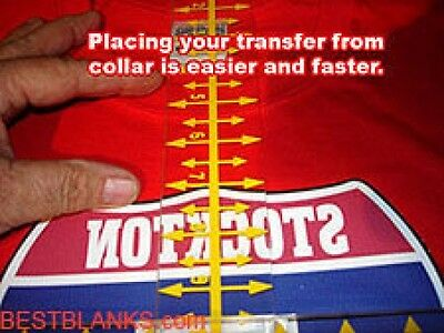 Tee Square It!3 Transfer Alignment Tool For Fast Heat Transfer Placement!