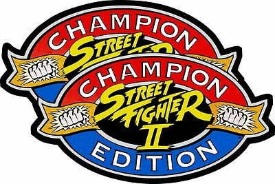 Street Fighter 2 II Champion Edition Arcade Game Side Art Premium 3M Vinyl