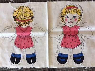 Cloth Doll Fabric Panel Sewing Pattern