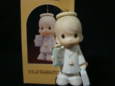 Precious Moments Ornaments-It's A Perfect Boy-Nativity-Doctor/Stethoscope