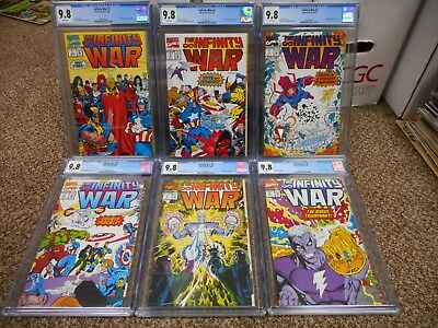 Infinity War SET ALL cgc 9.8 issues 1 2 3 4 5 6 Avengers movie Thanos Gauntlet