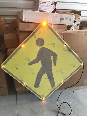 "ONE (1) NEW Tapco Flashing LED Pedestrian Crossing Symbol 36"" x 36"""