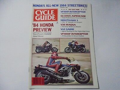 Vintage CYCLE GUIDE Magazine 1,6/1984 & 4,8/1985 & 2,3,4,7,11/1986 & April 1987
