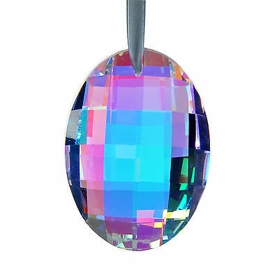 Colorful Hanging Egg Shape Pendants Crystals Chandelier Lamp Prisms Parts 76mm