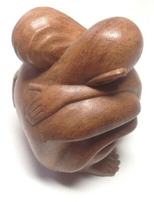 """Balinese Tantra Tantric Kama Sutra Erotic Wood Carving Statue Figurine Decor 6"""""""