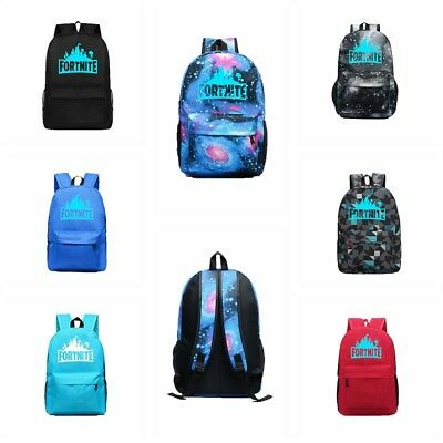 Fortnite Battle Royale Backpack Rucksack School Bag GLOW IN DARK Kids Bagpack