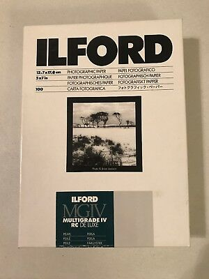 Ilford Photo Multigrade IV RC DeLuxe Paper Glossy 5 x 7 Inches 90/100 Sheets