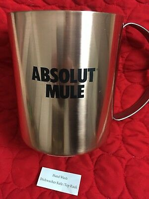 Absolut Moscow Mule Jumbo Copper Plated / Stainless Steel Tip Cup. New