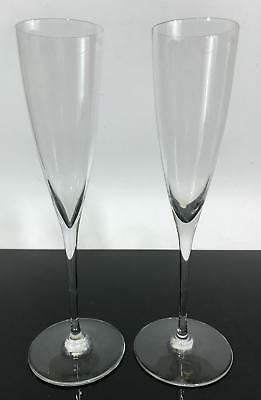 2pc Signed BACCARAT France Champagne Glass Celebration Drink Flutes Cups