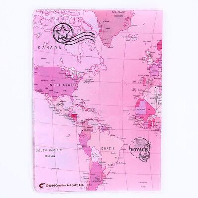 Creative World Map Printing Travel Passport Cover Case Card Holder Folder L