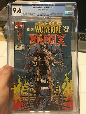 Marvel Comics Presents #72 - CGC 9.6 - (Mar 1991, Marvel - Weapon X)