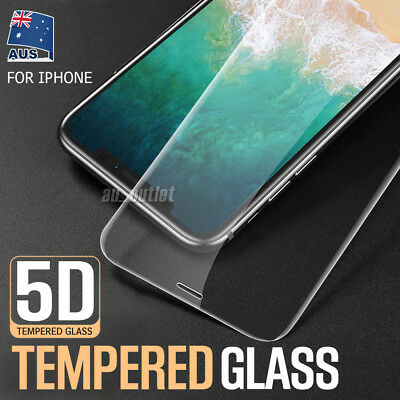 5D Apple iPhone X XS Max XR 8 7 Plus FRONT 9H Tempered Glass Screen Protector
