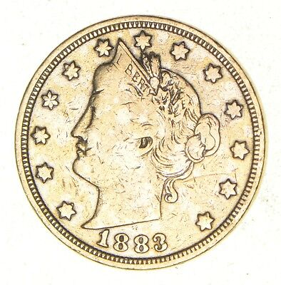 1883 24K Gold Plated 'Racketeer' Liberty V Nickel - Great History *401