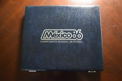 1986 Silver Mexico World Soccer Championship Set