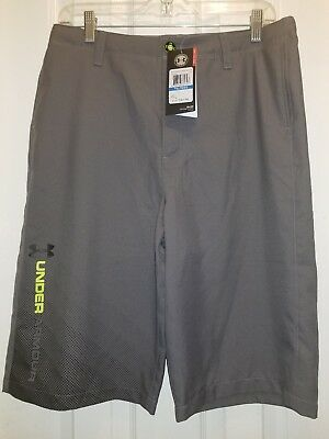 Boys Youth Under Armour Casual Golf Shorts Gray Boys Youth XL MSRP $49.99