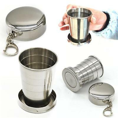 Stainless Steel Portable Folding Telescopic Collapsible Outdoor Travel Cup Mug L