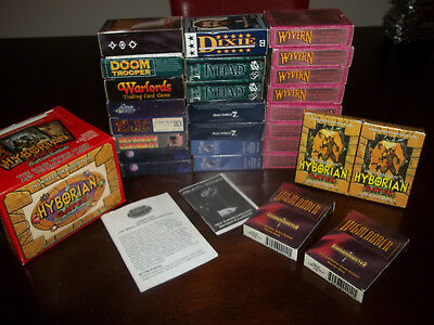 Large mixed lot of starter sets & cards Wyvern - Doom Patrol - Tempest - Jyhad+