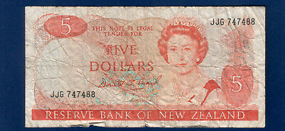 Rare New Zealand -1996- $5 Banknote Scarce issue JJG747488