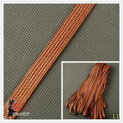 Brown Tsukamai Synthetical Silk Ito Sageo Cord Dark For Japanese Katana Sword