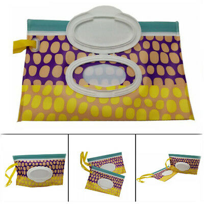 Baby Wipes Travel Carrying Case Holder Dispenser Refillable Wet Wipe Clutch L