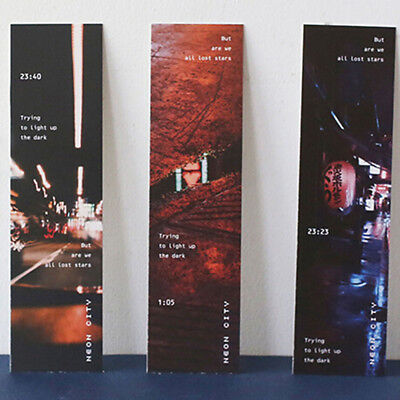 30Pcs/set Neon City Paper Bookmark Message Card Stationery Gift L