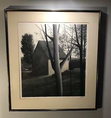 Robert Kipniss (Backyard IV) Limited Edition Hand Signed Lithograph 53/90, LARGE