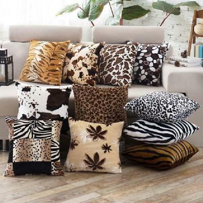 Animal Zebra Leopard Print Pillow Case Sofa Waist Throw Cushion Cover Decor L