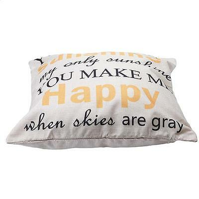 Letters Printed Pillow Case Cotton Linen Cushion Cover Fashion Home Decor L