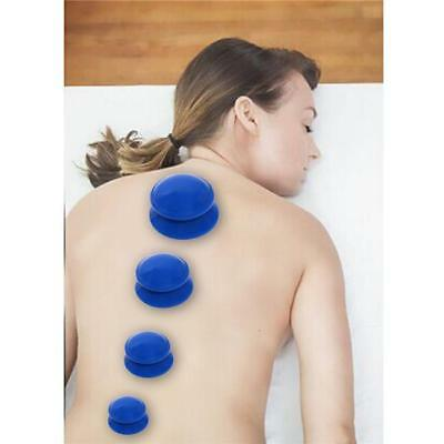 4pcs Silicone Massage Cupping Therapy Cellulite Vacuum Suction Cup Body Facial L