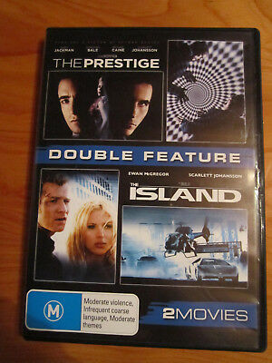 Dvd  Double Feature The Prestige & The Island  Great  ** Must See **