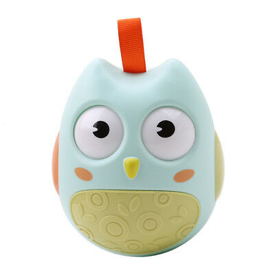 Nodding Moving Eyes Owl Tumbler Baby Toy Infant Newborn Rattles Toys With Bell L