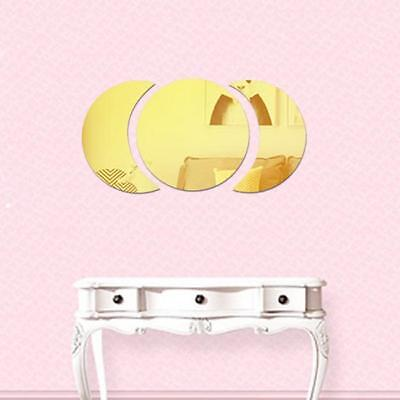 Wall Stickers Round Removable Film Mirror Decorative Bedroom Decoration L