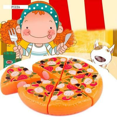 Kitchen Pizza Party Children Fast Food Slices Cutting Pretend Play Food Toy L